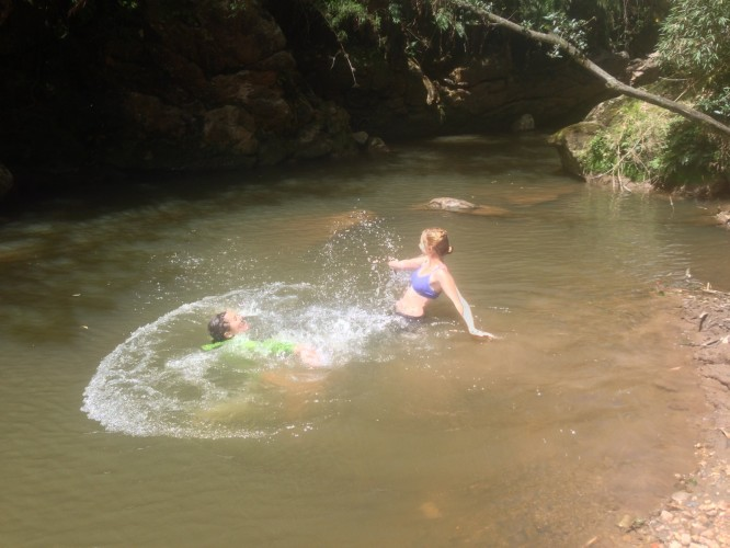 Swimming in Colombia River
